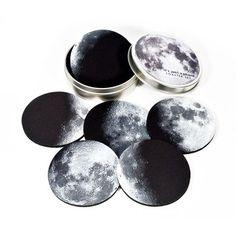 Moon phases coaster set