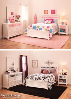 What happens when your child wants everything pink when they are young, but change their tastes as they grow? This Jamboree Bed has reversible plates in the furniture to switch out the color to match the décor. It makes for an easy, quick redesign.