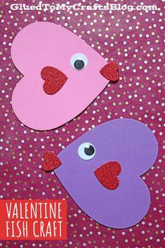 Craft Foam Heart Valentine Fish – Kid Craft Valentine's Day Crafts For Kids, Diy For Kids, Craft Foam, Fish Crafts, Valentine Day Crafts, Gift Tags, February, Paper Crafts, Kids Rugs