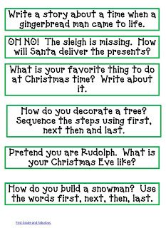 First Grade and Fabulous: He's Making a List---He's Checking it Twice