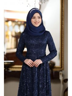 Al Marah Ecrin Abiye Lacivert Hijabi Girl, High Neck Dress, Actresses, Outfits, Fashion, Outfit, Moda, Suits, Female Actresses