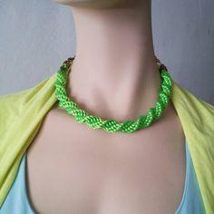Collar Luvjan de seda con cadena  www.facebook.com\bycosmicgirl