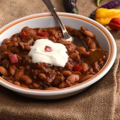 Old-fashioned chili beans