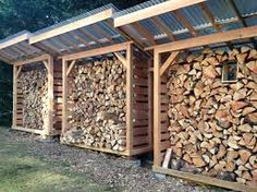 storing firewood shed with tin roof - Google Search