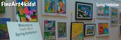 children's masterpieces on show! Artworks by kids age Spring Theme, Spring Art, Art Competitions, Artwork Display, 7 Year Olds, 4 Kids, Artworks, Gallery Wall, Age