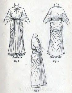 Egyptian Dress, pharaoh tunica, Draped Robe, fancy dress pattern