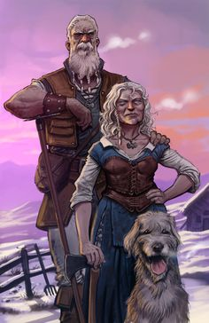 Nord Farmers by Jedi-Art-Trick.deviantart.com: Inspiration for Sverkish people