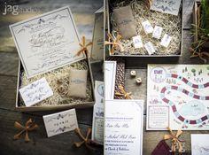 Scavenger Hunt Wedding Invitations, Winvian, Morris, CT  JAGStudios #scavengerhunt #weddinginivtations