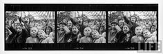 Composite of frames 33, 34 & 35 of negative strip from Alfred Eisenstaedt's famed set on excited French children watching a Guignol puppet show in Parc de Montsouris. LIFE Magazine.