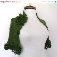 CIJ SALE Green Bridal Mohair CASHMERE Shrug With by knittingshop, $63.00