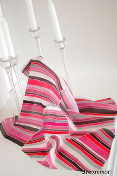 Silk scarf  hand-painted. heart lines