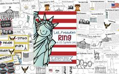 This pack has everything you need to teach your students about the 8 American symbols: the White House, the bald eagle, Mount Rushmore, the American Flag, the Lincoln Memorial, the Washington Monument, the Liberty Bell, and the Statue of Liberty.