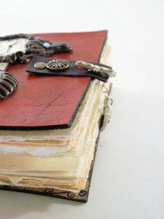 Custom Steampunk Notebook Leather Steampunk Journal by LadyArtisan