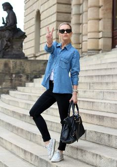 Shop this look on Kaleidoscope (shirt, jeans, sunglasses, sneakers)  http://kalei.do/WsojE9tLbXPa0YuW
