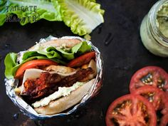 Everyone has their go-to joint for the best BLT sandwich. Tailgate Drinks, Tailgating Recipes, Hamburger, Grilling, Bacon, Sandwiches, Ethnic Recipes, Food, Crickets