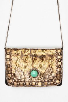 Urban Outfitters - Kimchi Blue Art Deco Jeweled Clutch