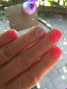 Starfish summer nails #summernailart