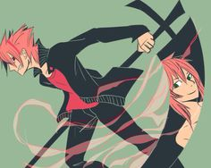 Soul (Technician) and Maka (Weapon) - Soul Eater ~ Admin: it's a different twist and I like it XDD