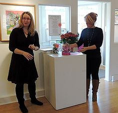 Sunday October 27 2013 Curators Dawn Wyse Hurto And Lesley Hall Hold A Raffle Drawing Closing Reception