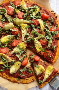 Sweet potato pizza crust. Vegan and gluten-free.