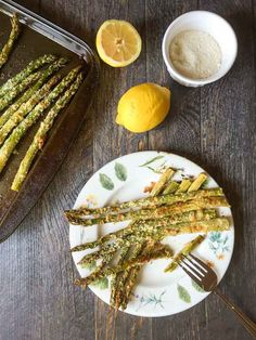 Lemon Parmesan Asparagus This lemon Parmesan asparagus recipe is perfect for Spring. An easy, tasty, healthy side dish! I really like asparagus as does my hubby. Now that asparagus is in season I t…