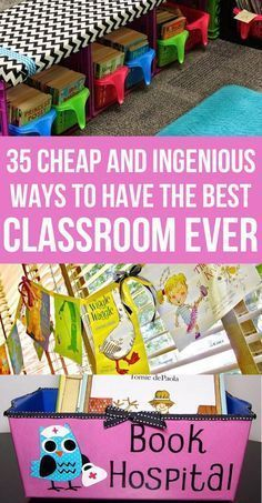 Ingenious ways to upgrade your classroom for cheap. Recycling and upcycling methods for decorating and organizing.