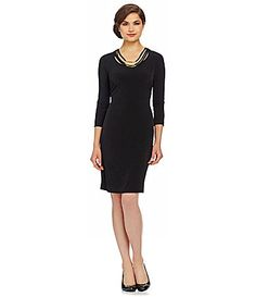 PLUS SIZE Calvin Klein Woman 34Sleeve Necklace Dress #Dillards NOW- just go find your job atFirstJob.com for your entry-level jobs and ...