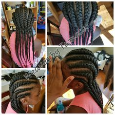 Braids to the back,  Ghana braids, feed in braids, cornrows, jumbo braids, kids braids, French  braids