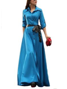 Kołnierzyk Sukienka Maxi Z Szarfą & Dresses - w JollyChic