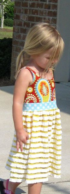 """Another version of the """"Milly"""" pattern by brownie goose...love the ruffle knit fabric!"""