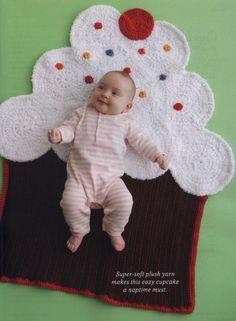 cupcake blanket crochet pattern