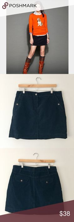 J. Crew Navy Corduroy Mini Skirt Classic navy corduroy mini skirt by J. Crew. 98% cotton 2% spandex. Size 12. EUC. J. Crew Skirts Mini