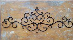 SALE Metal Headboard / Scrolled Metal Headboard by pinkelephants03