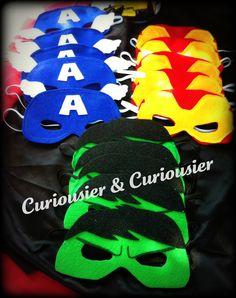 SuperHero Masks - HUlk, Iron Man, & Captain America by: aNicoleB