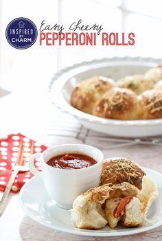 Easy Cheesy Pepperoni Rolls