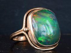 1920s Black Opal Ring – Erie Basin