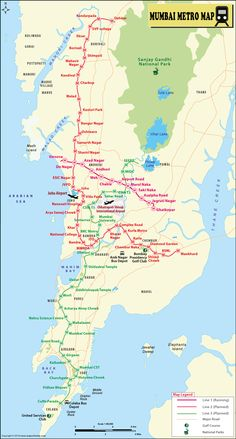 Proposed Mumbai Metro Map