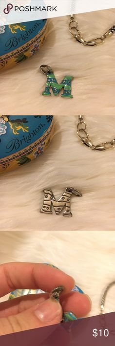"""Brighton M Charm M charm from Brighton. Good condition no major signs of wear. Check 3rd pic for """"signs of wear"""" only reason it's there is Bc it's just been sitting around for years. This was mine when I was little and I never really wore it on my charm bracelet. No trades. Brighton Jewelry"""