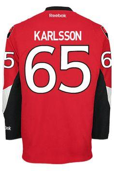 Ottawa Senators Erik KARLSSON #65 *C* Official Home Reebok Premier Replica NHL Hockey Jersey (HAND SEWN CUSTOMIZATION)