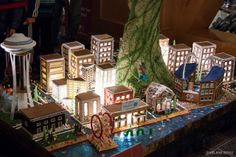 holidays in downtown seattle | gingerbread village