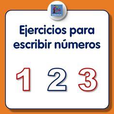 Ejercicios para escribir números para descargar e imprimir, dedicados a los números uno, dos y tres