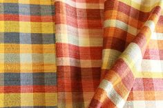 Various plaid mohair blanket patterns woven in mohair