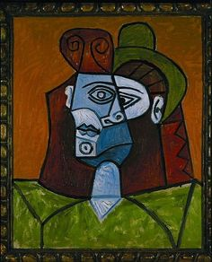 """Pablo Picasso - """"Woman with green hat"""", 1939"""