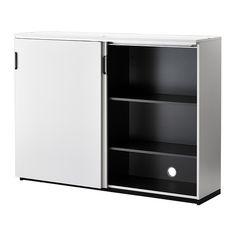 GALANT Cabinet with sliding doors - white - combination lock - IKEA $549
