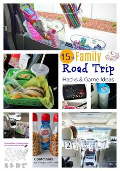 Over 15 Must Try Road Trip Hacks For Easy Travelling with Kids - Ideas for organizing the car or van for family road trips! Road Trip Snacks, Road Trip Packing, Road Trip Essentials, Packing Lists, Road Trip Tips, Car Snacks, Holiday Essentials, Travel Packing, Road Trip With Kids