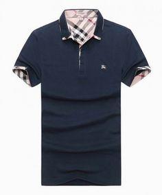 88d27f01 Burberry Short Polo Shirt Dark Blue 052 #men'spoloshirts #men's #polo #