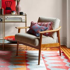 Merveilleux Mid Century Show Wood Upholstered Chair | West Elm