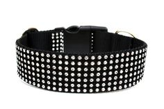 Rhinestone Dog Collar by Wagologie on Etsy