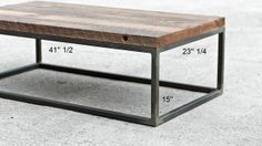 Industrial cut Steel legs wooden top coffee table
