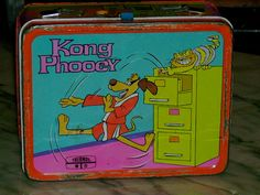 1975 Hanna Barbera Hong Kong Phooey cartoon TV show metal lunch box $40